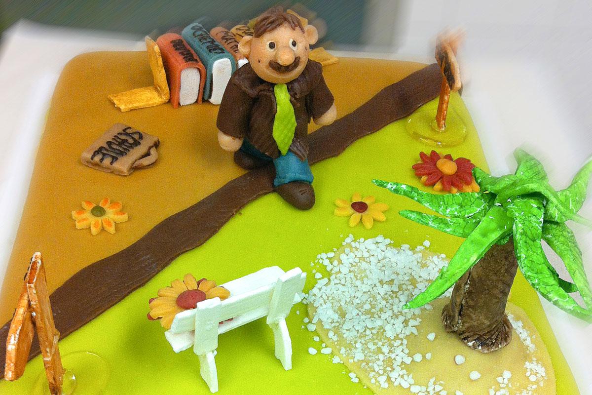 Kuchen zum ruhestand
