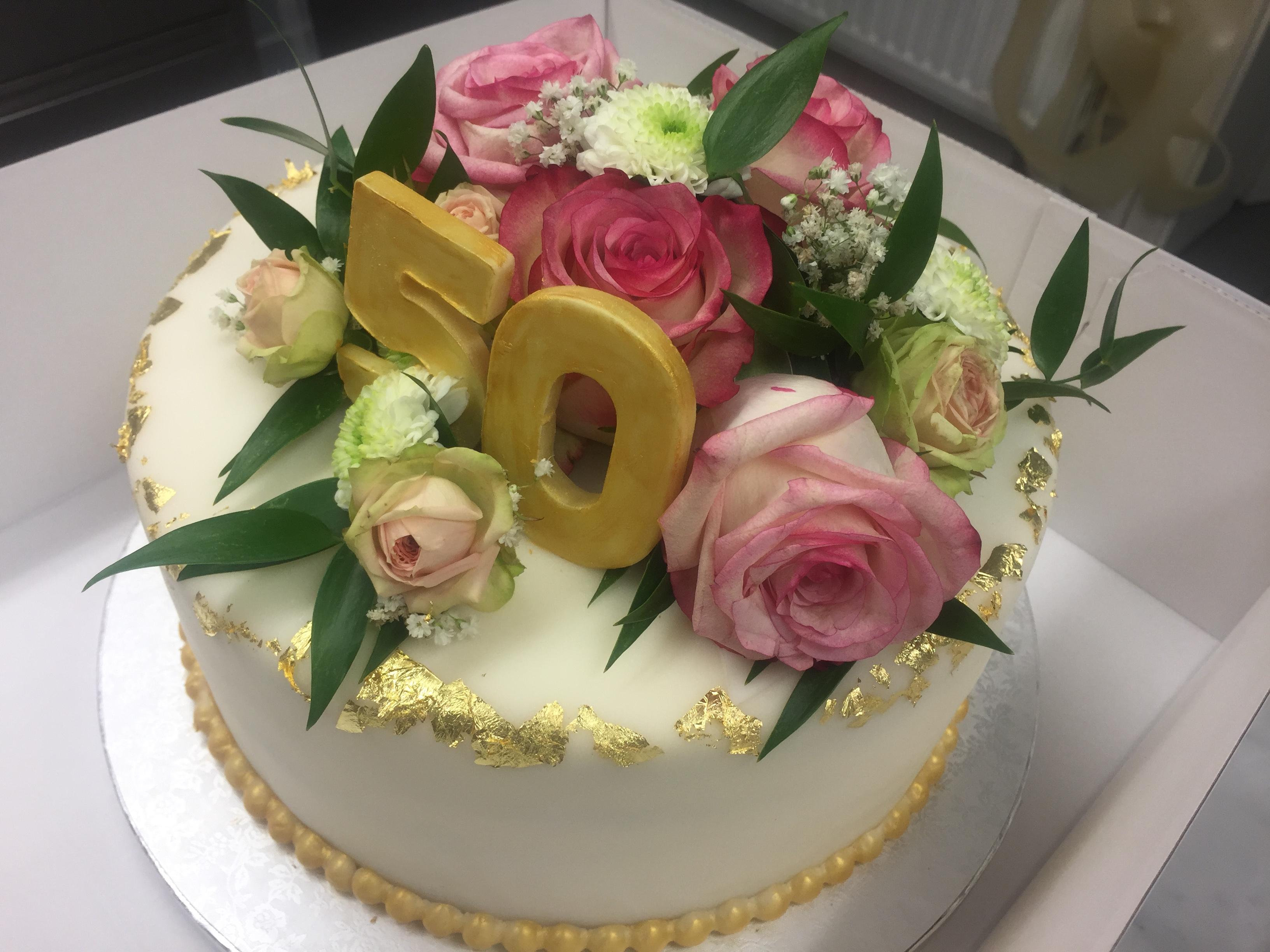 Torte Zur Goldenen Hochzeit Tortenspitze